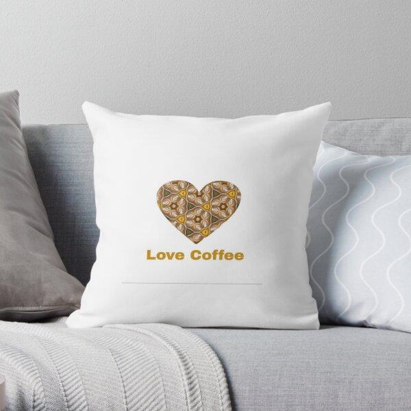 Love Coffee Throw Pillow