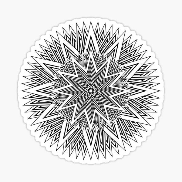 12 point Black and White Stars Sticker