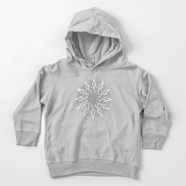 12 point Black and White Stars Toddler Pullover Hoodie