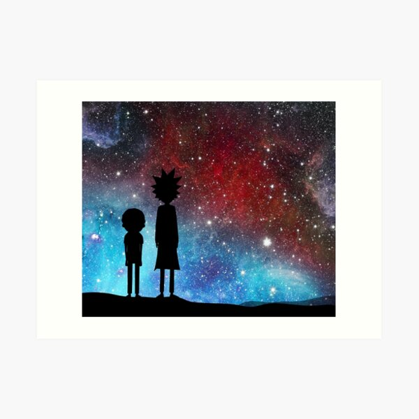 Rick and Morty - space Art Print