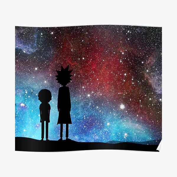 Rick and Morty - space Poster