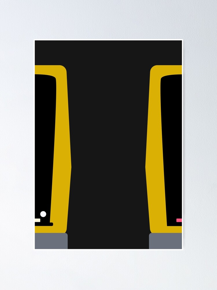 Alternate view of Two Trains Pass in the U-Bahn Poster