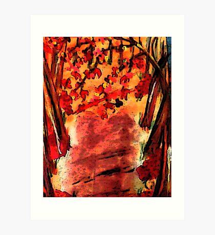 Fall is in the air!  watercolor Art Print