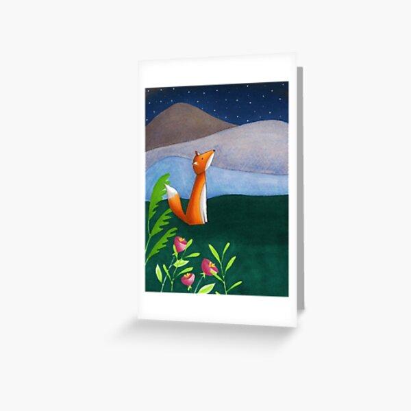 The Night Sky Fox Greeting Card