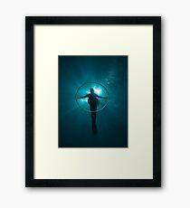 The shadow cross Framed Print