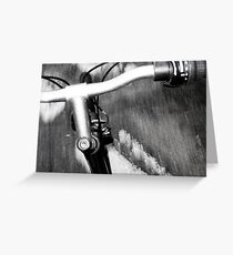 Movement on a bike. Greeting Card
