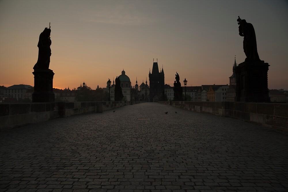 Charles Bridge Prague by Maria Heyens