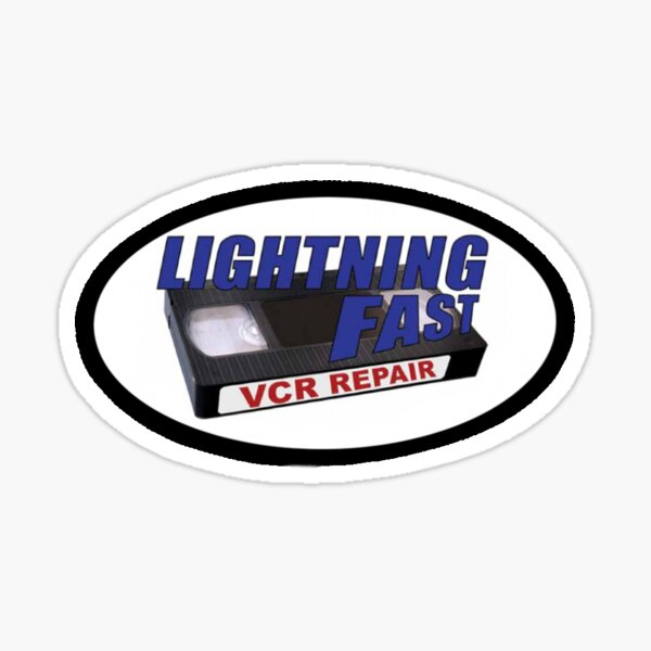 lightning fast vcr repair Sticker