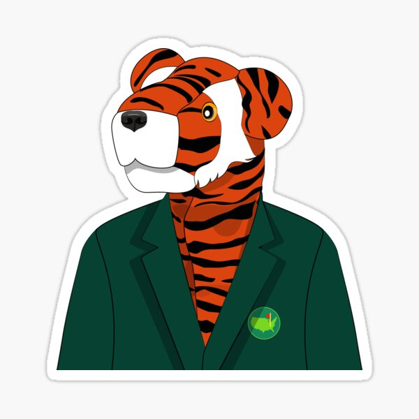 Tiger Woods Green Jacket Sticker