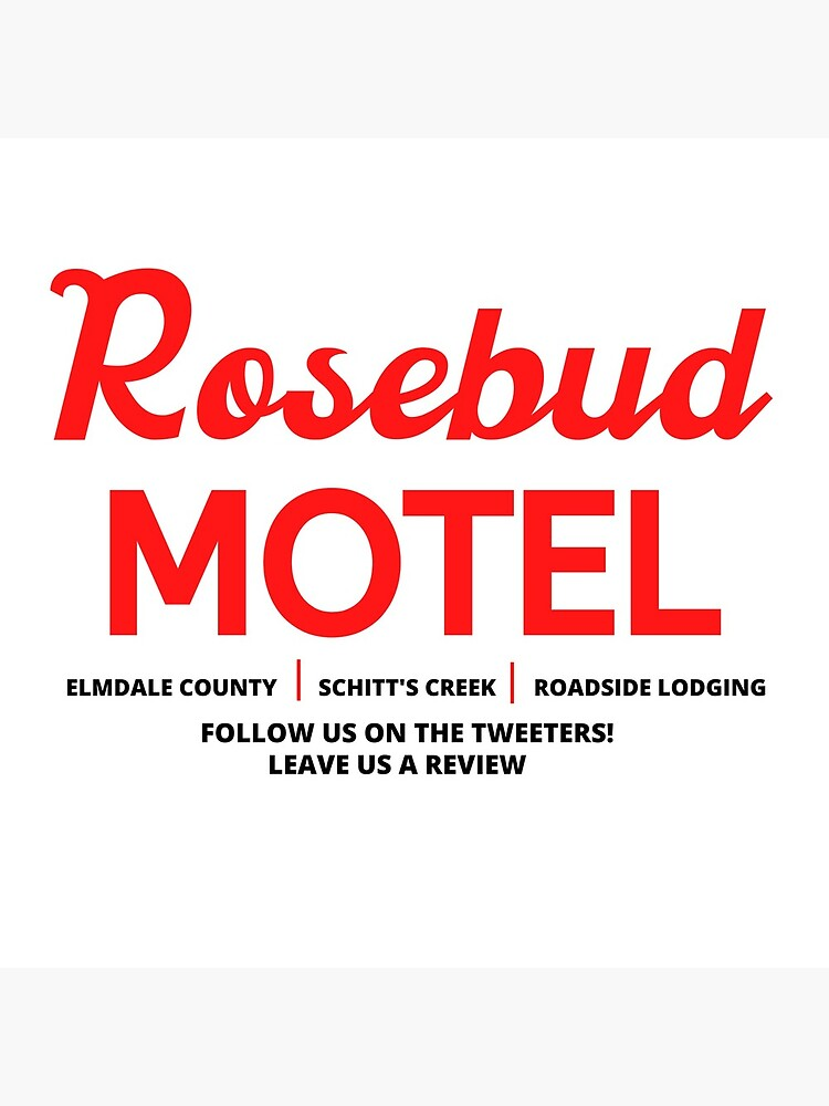 Schitt's Creek Rosebud Motel Logo by litwordsinc
