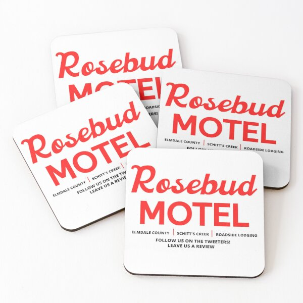 Schitt's Creek Rosebud Motel Logo Coasters (Set of 4)