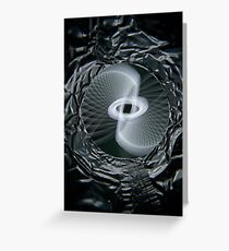 Tinfoil Physiogram (B&W) Greeting Card