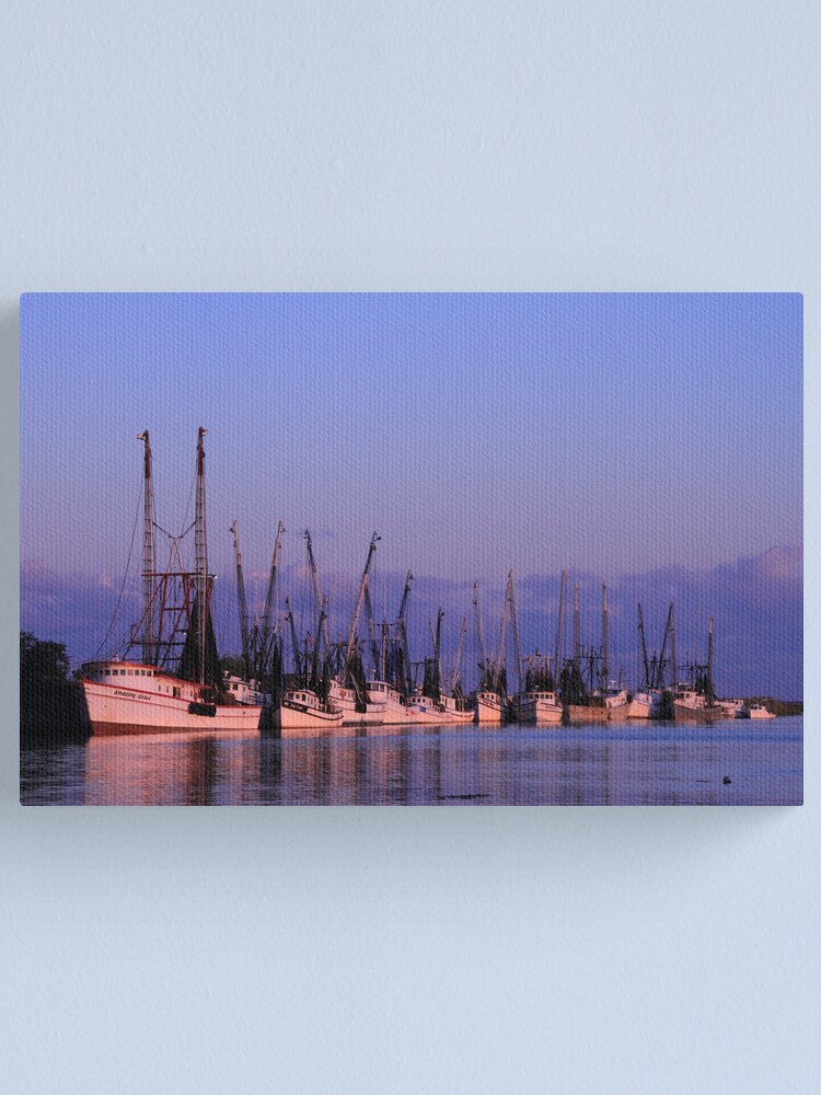 Alternate view of Dockside on the Darien Canvas Print