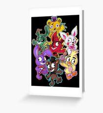 Five Nights at Freddys 1-4 Chibi Greeting Card