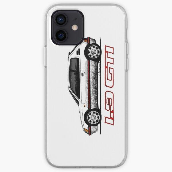 Ma main dessin de la 205 GTI (transparent) Coque souple iPhone