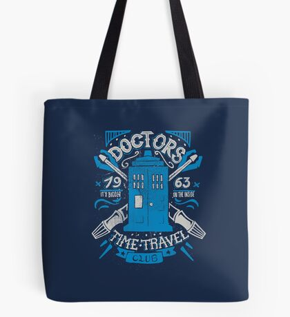 Doctors time travel club Tote Bag
