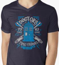 Doctors time travel club Men's V-Neck T-Shirt