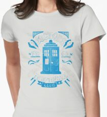 Doctors time travel club Womens Fitted T-Shirt