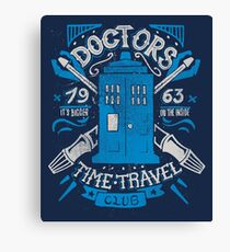 Doctors time travel club Canvas Print