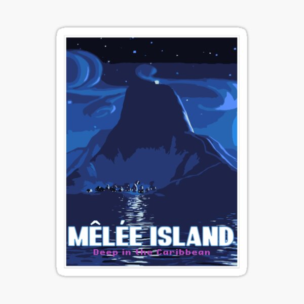 Melee Island Travel Poster Sticker