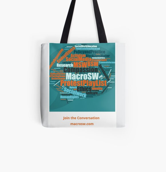 2020 Social Work Month All Over Print Tote Bag