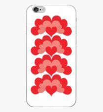 Heart Fan Pattern iPhone Case