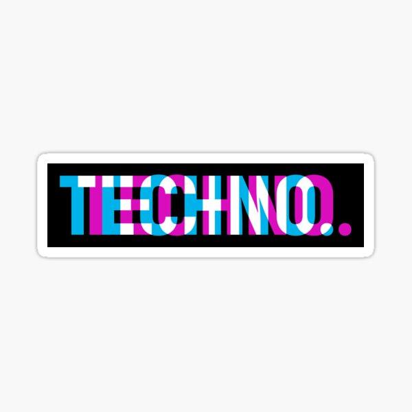 Techno Pegatina