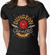 Dungeon Crawlers Club Womens Fitted T-Shirt