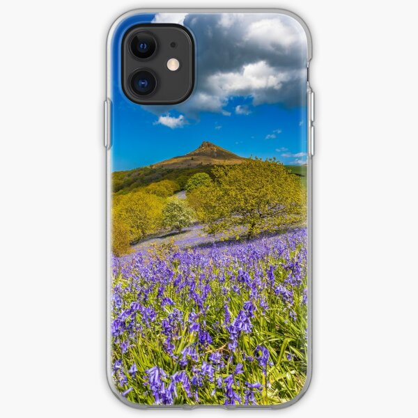 Roseberry Topping Bluebells iPhone Soft Case