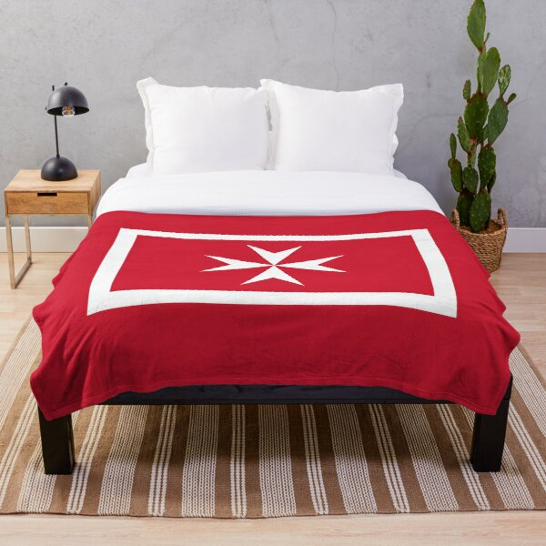 Malta Civil Flag Stickers, Gifts and other Products Throw Blanket