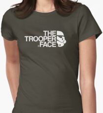 The trooper face Womens Fitted T-Shirt