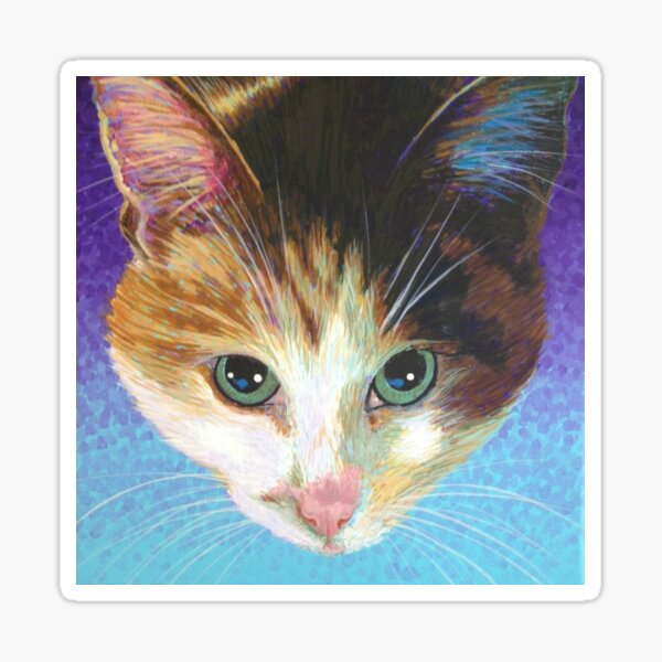 Calico on Lilac Sticker