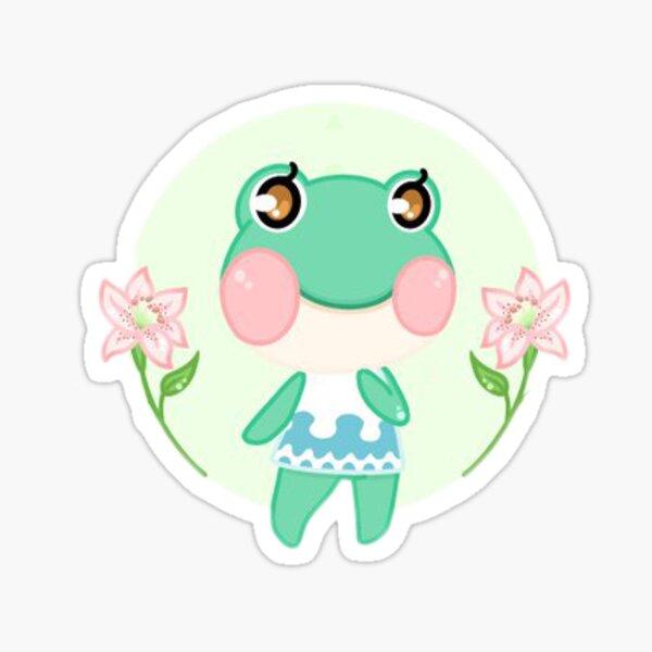 Animal Crossing New Horizon Lily Frog Sticker Sticker