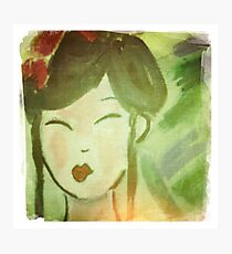 Geisha in Lomo Style Photographic Print
