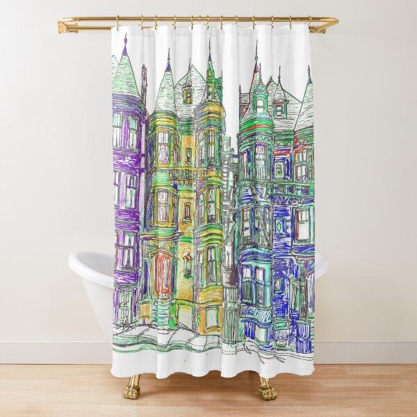 Victorian Row Houses San Francisco California Shower Curtain