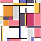 Abstract colored shapes and forms by mikath