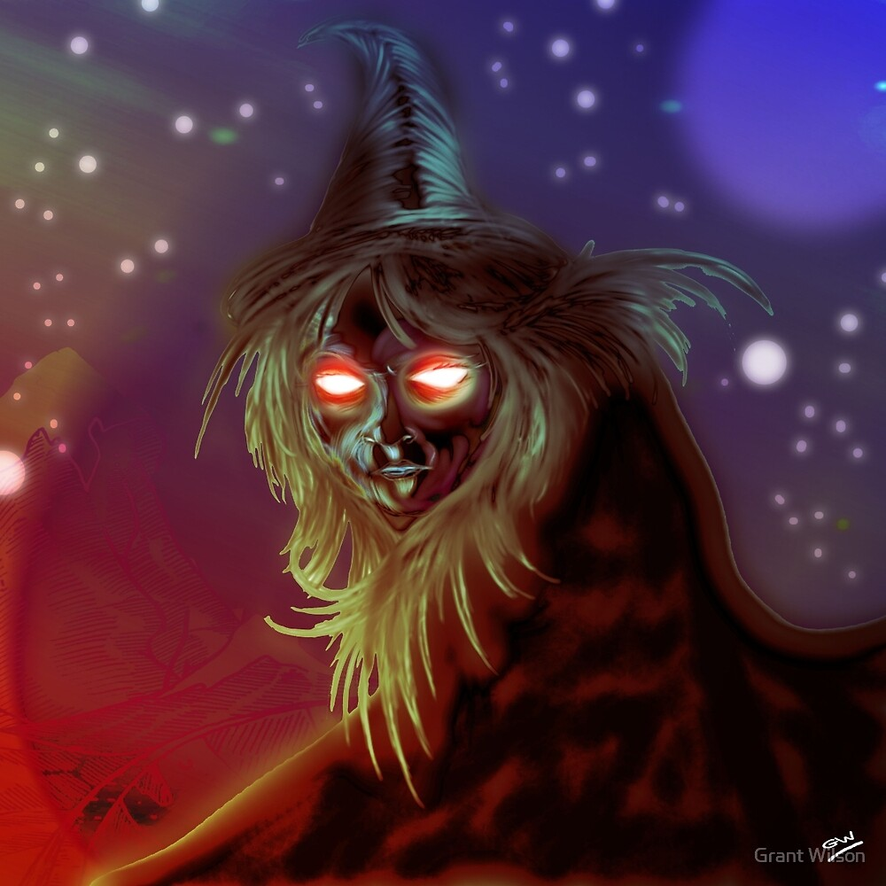 Witch Creature Digital Painting by Grant Wilson
