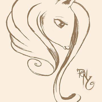 Pony Lady by sunset