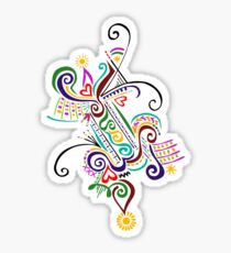 Calligraphic Motif Sticker