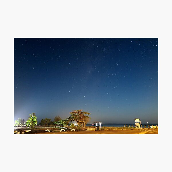 Looking down Endeavour Strait from Seisia on a moonlit night Photographic Print