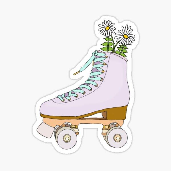 Flower Skates Sticker