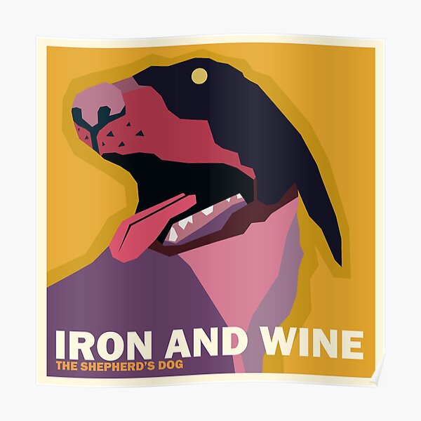 """Iron and Wine """"The Shepherd's Dog"""" Simplified Album Cover Poster"""