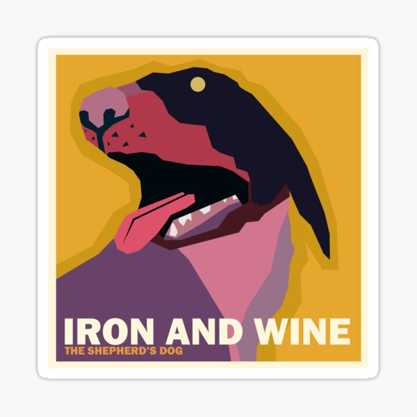 """Iron and Wine """"The Shepherd's Dog"""" Simplified Album Cover Sticker"""