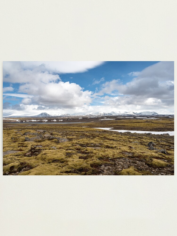 Alternate view of Beautiful landscape along road 52, Uxahryggjavegur, Iceland Photographic Print
