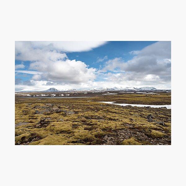 Beautiful landscape along road 52, Uxahryggjavegur, Iceland Photographic Print