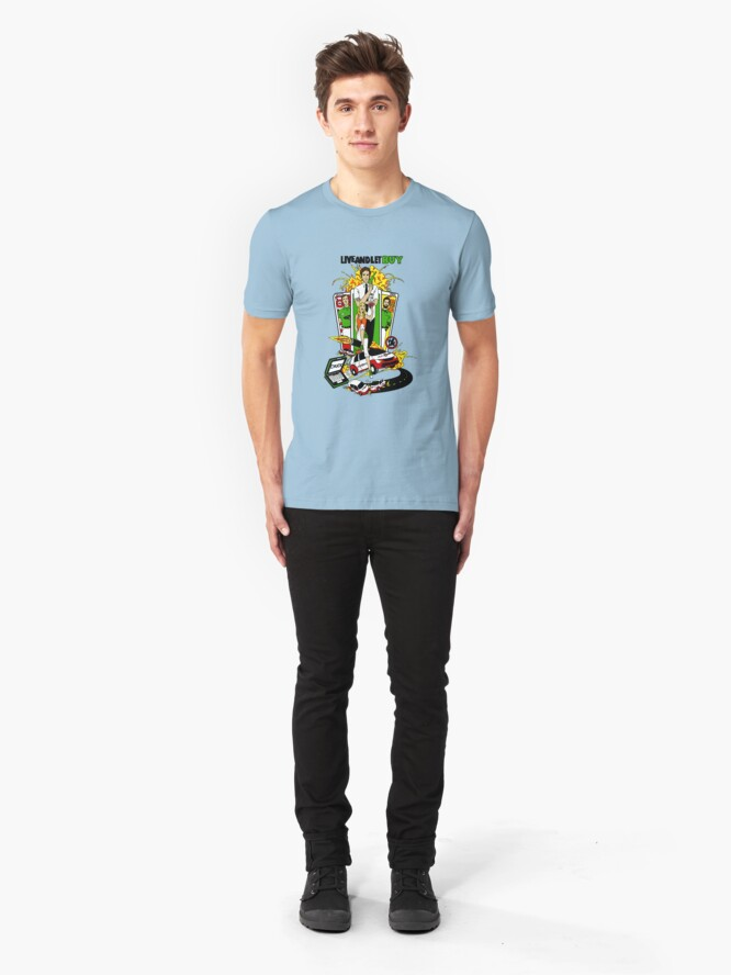 Alternate view of Live and Let Buy Slim Fit T-Shirt