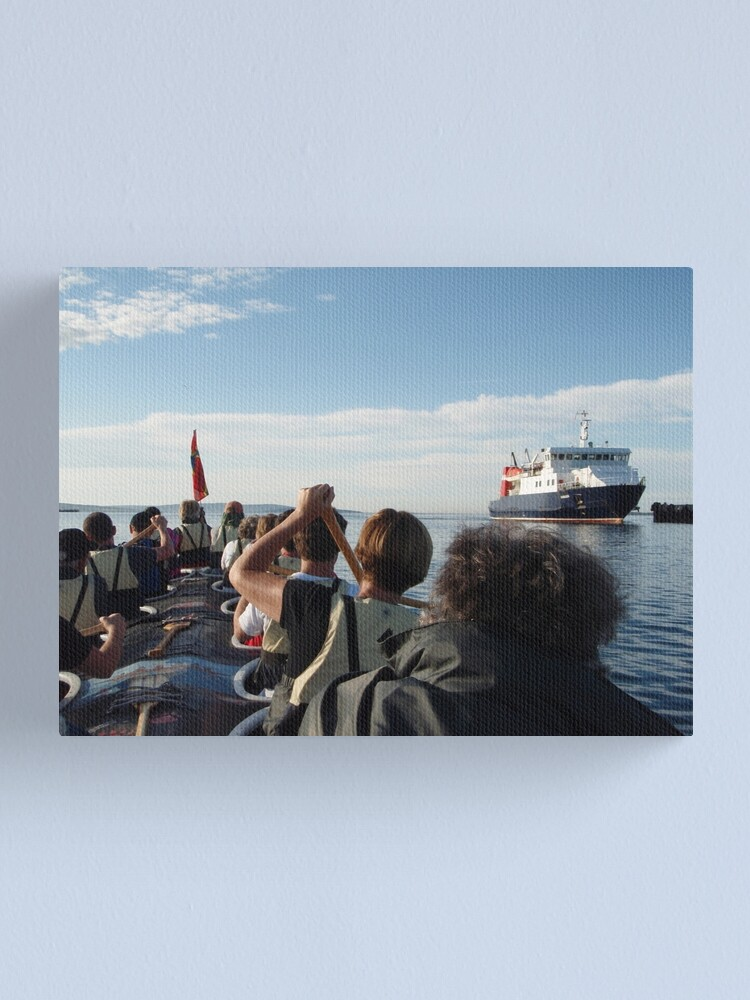 Alternate view of Paddling past the ferry Canvas Print