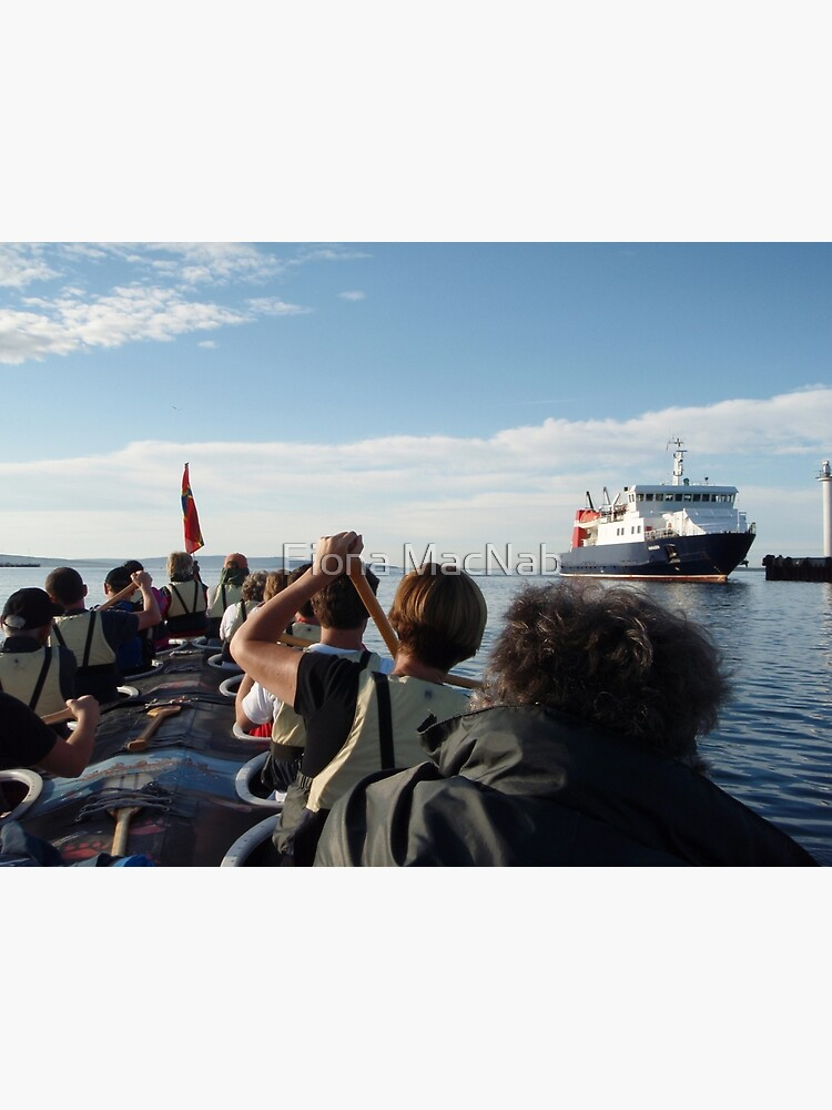 Paddling past the ferry by orcadia