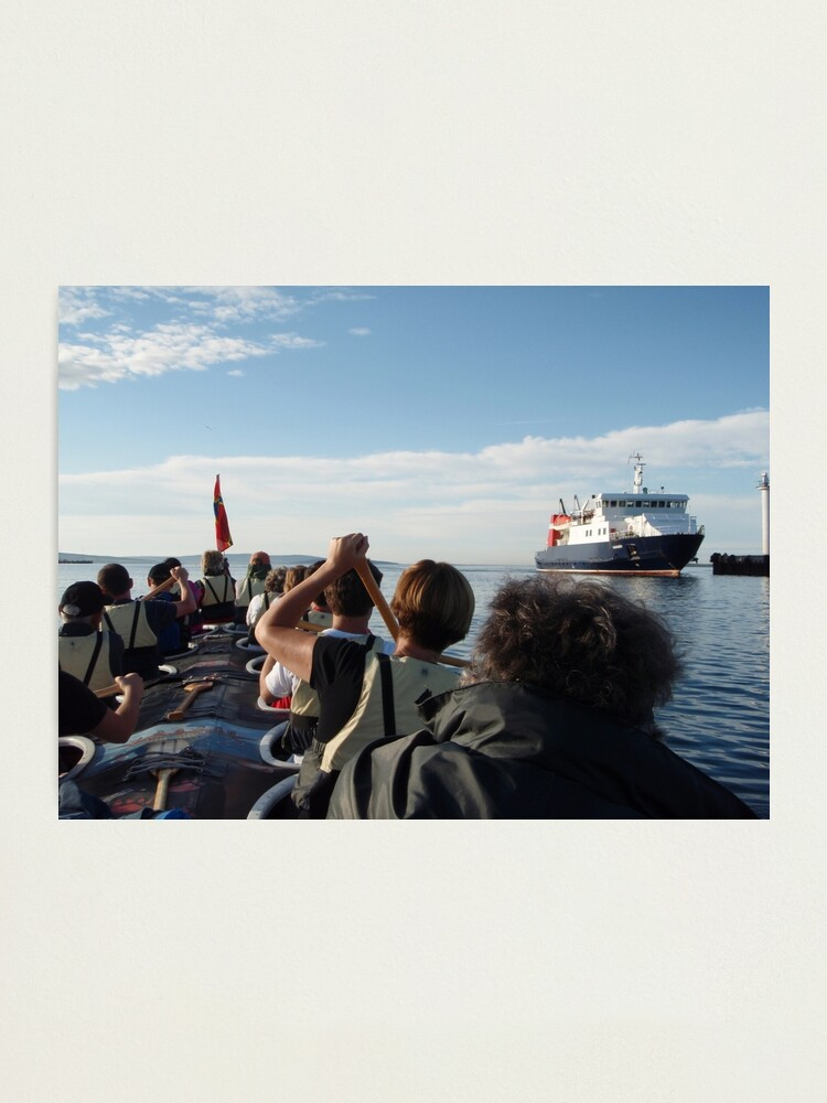 Alternate view of Paddling past the ferry Photographic Print