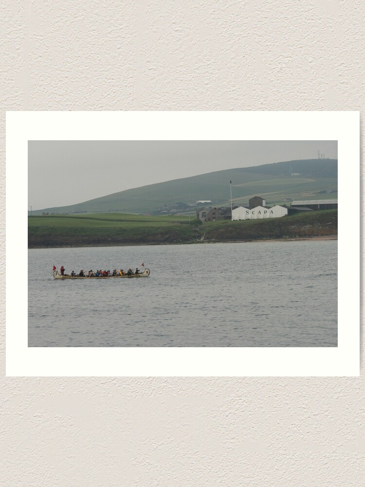 Alternate view of Safely at Scapa Art Print